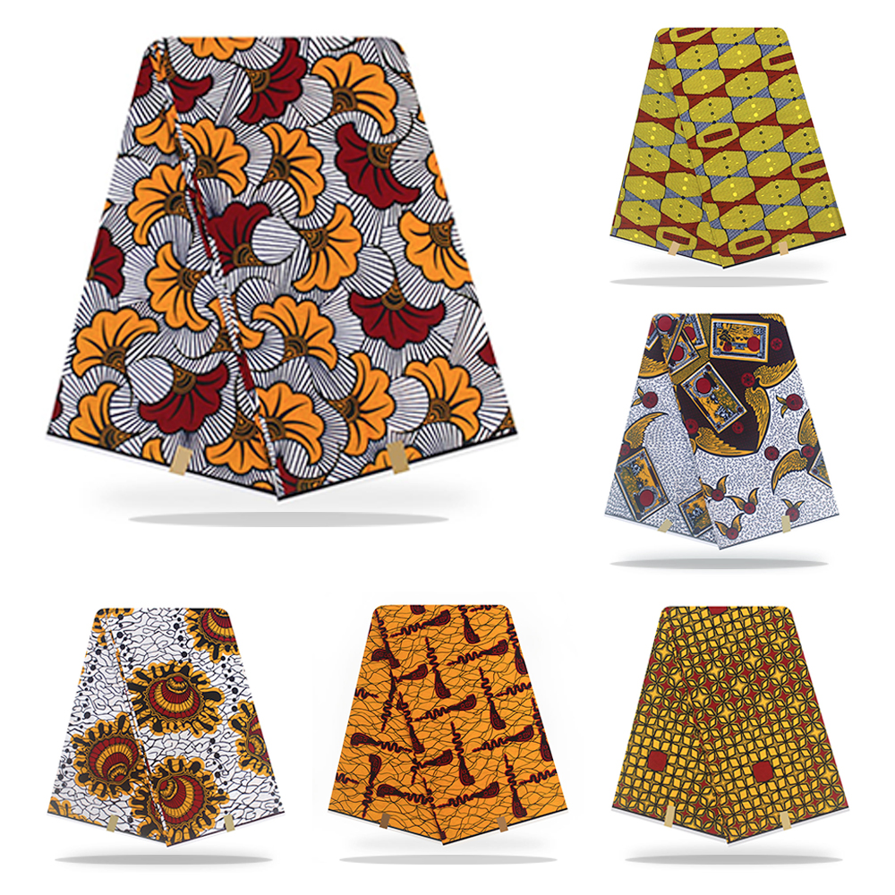Shenbolen African Fabric Wax Print  100% Polyester Ankara 6yards African Ankara Wholesale Polyester Wax Fabric For Dress