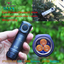 Amutorch E3 3x XPL-HI/SST20 LED 3000LM Dual Mode Stepless Dimming powerful 21700 EDC Flashlight Mini