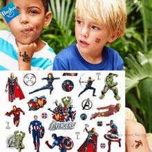 Hasbro Spiderman Marvel Ironman The Avenger Children Cartoon Temporary Tattoo Sticker For Boys Cartoon Toys Waterproof Kids Gift victorinox tinker small