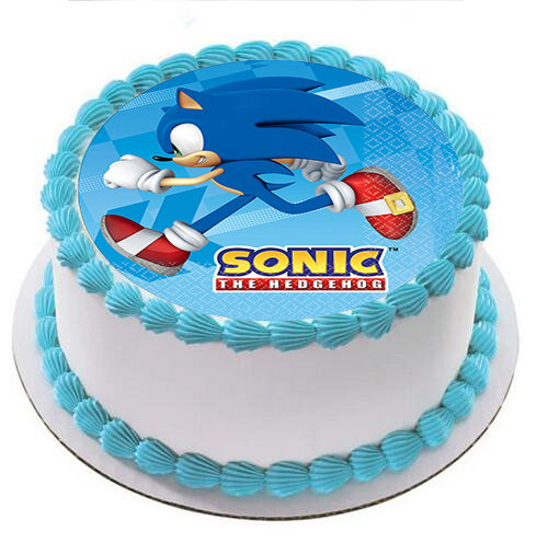 Enjoyable Sonic The Hedgehog Cake Topper Edible Wafer Sugar Icing Paper Baby Funny Birthday Cards Online Barepcheapnameinfo
