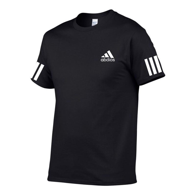 Новый бренд abdios Футболка Мужская/женская летняя повседневная футболка с коротким рукавом из хлопка, футболка для мальчиков с надписью 100% хл...