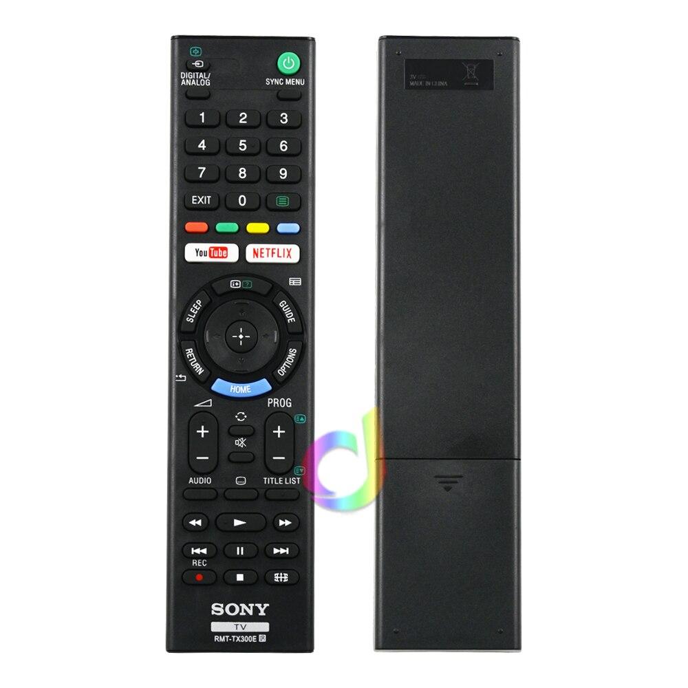 RMT-TX300E controle remoto adequado para sony tv lcd tv 3d led inteligente controlador com youtube netflix botão RMT-TX300P rmf-tx100