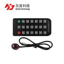 Huidu センサー、温度 18B20 、温度 & 湿度センサー AM2301 、シングル/rgb 輝度センサー、センサボックス、 1R リモート