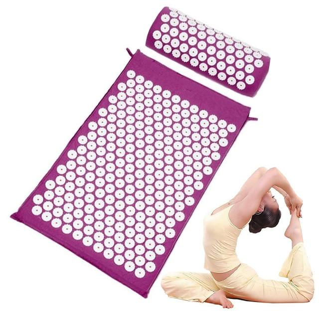 Acupunctuur Mat Massager Kussen Verlichten Terug Body Pijn Spike Mat Acupunctuur Tapijt Spike Yoga Mat Massage En Ontspanning Set