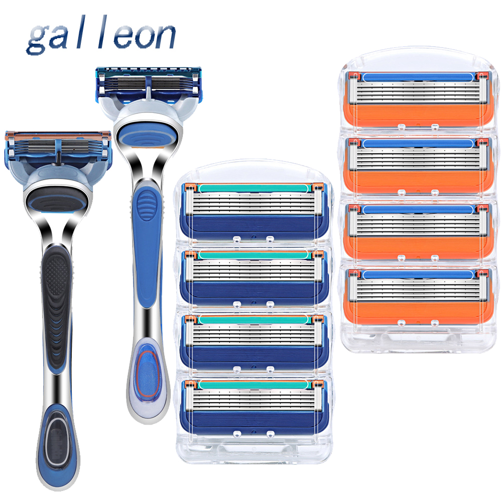 High-quality Professional Men's Razor Shaver Holder 5-layer Home Razor, Suitable For Gillette Fusione Men's Face Or Mache 5 Hot