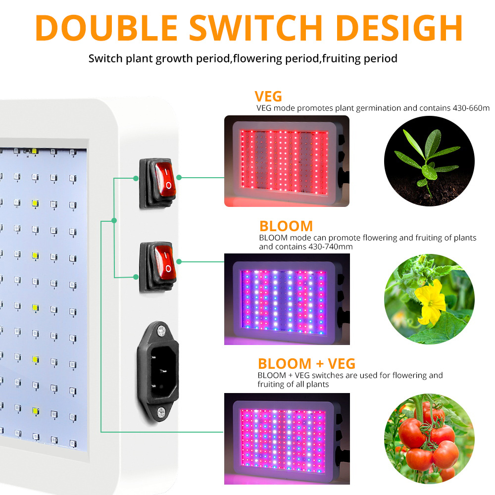 LED Grow Light 2000W Waterproof Phytolamp 2835 Led s Chip Phyto Growth Lamp 265V