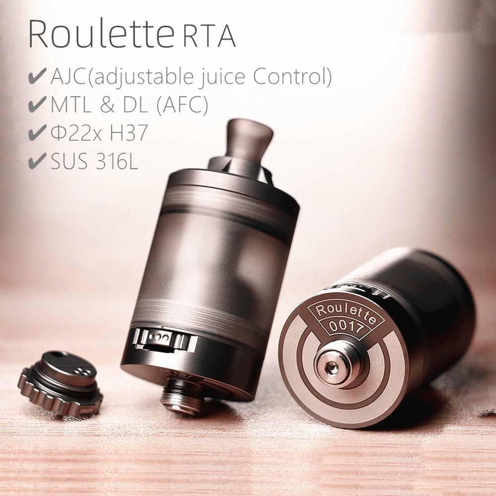 vape mini Roulette RTA MTL DL AFC RTA 3.5 ML capacity 22mm Single Coil vape SS316 Rebuildable Tank 510 Atomizer