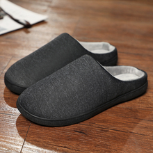 Inverno A Casa Pantofole Scarpe Da Uomo Breve Peluche Caldo di Vibrazione Flop Degli Uomini Molli di Casual Calzature Pantofola Al Coperto Zapatillas De Hombre Grande formato
