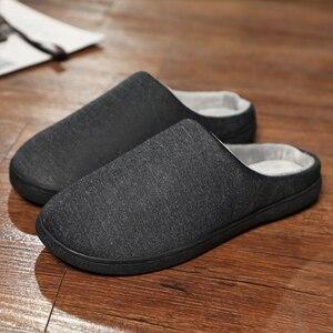 Image 1 - Winter Home Slippers Mens Shoes Short Plush Warm Flip Flop Soft Men Casual Footwear Indoor Slipper Zapatillas De Hombre Big Size