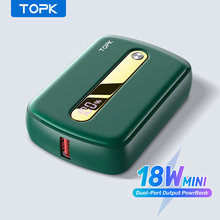 TOPK MINI Power Bank 10000mah Fast Charge QC PD 3.0 Portable Charger External Battery Pack Powerbank for iPhone Xiaomi Poverbank