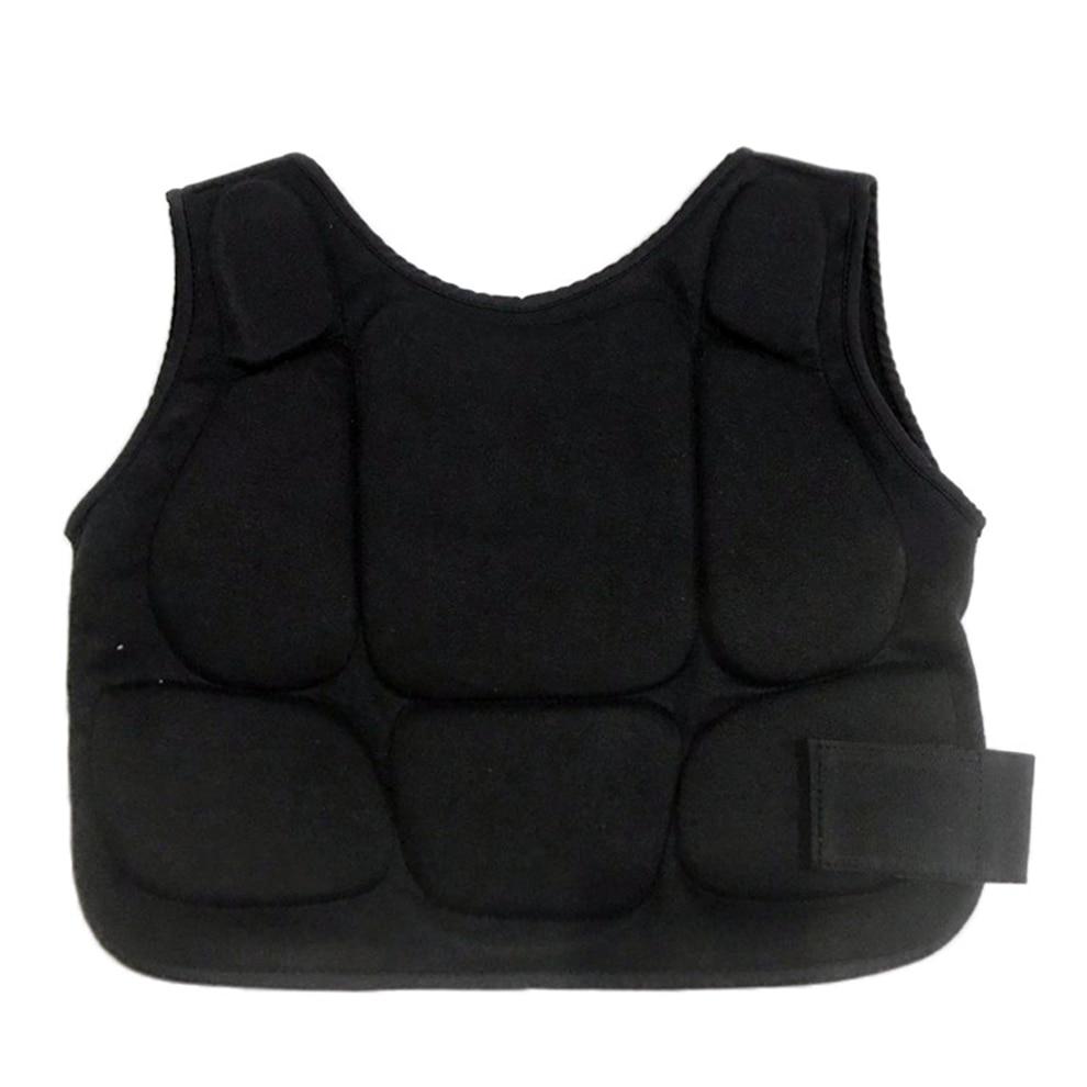 Black Karate Chest Guards Body Protector Men Women Shield Pad for MMA KickBoxing Boxing Taekwondo Muay Thai Training Child Vest