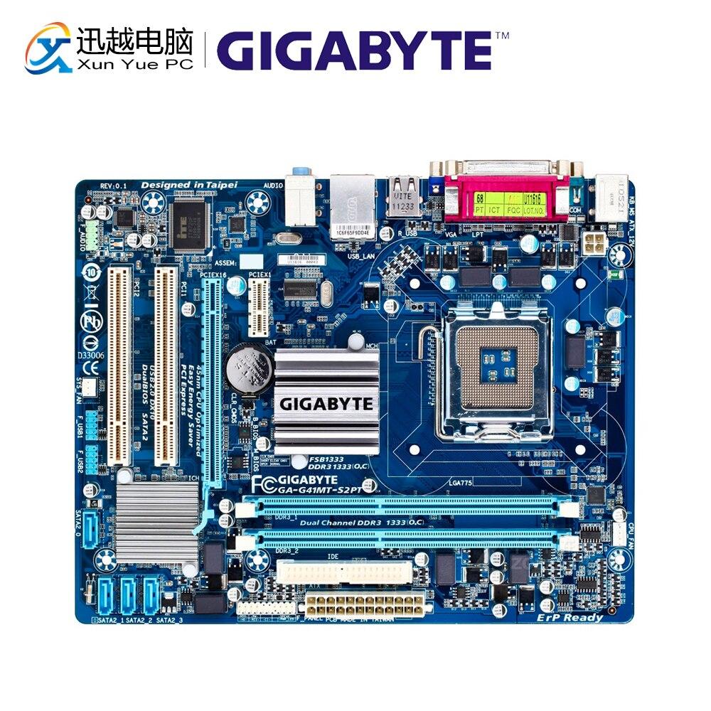 Gigabyte GA-G41MT-S2PT Original Used Desktop Motherboard G41MT-S2PT G41 LGA 775 DDR3 8G SATA2 USB2.0 Micro-ATX