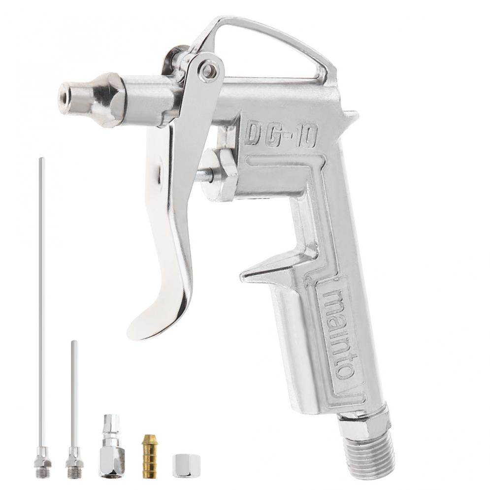 5pcs/set Spray Gun Mini Pneumatic Blowing Dust Gun Tool With 7.5mm Air Inlet Port For Leather Oiling / Wall Painting / Refinish