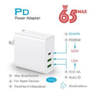 "Image 2 - 65W פ""ד מהיר מטען QC3.0 Quck מטען עבור מתג Macbook סוג C USB מטען עבור iPhone עבור סמסונג Xiaomi קיר מטענים מתאם"