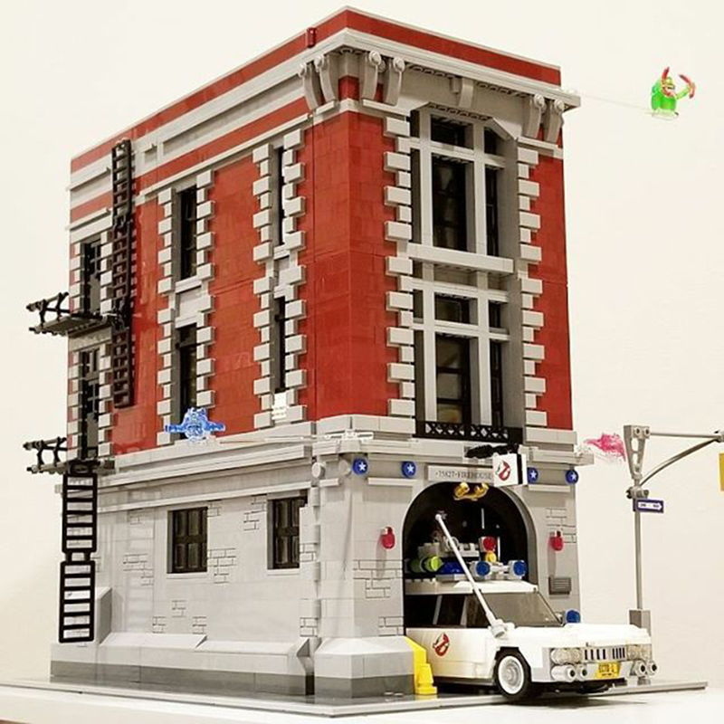 DHL 16001 4705Pcs Ghostbusters Firehouse Headquarters Brinquedos Model Set Building Kits Model Compatible Lepining City75827