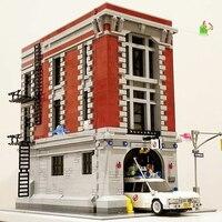 Dhl 16001 4705 pçs ghostbusters firehouse quartel general brinquedos modelo conjunto kits de construção modelo compatível lepining city75827|Blocos| |  -