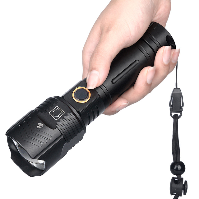 XHP100 Flashlight LED USB 26650 Battery Zoom Camp Torch light Power bank Rechargeable Outdoor Torch Lantern 2