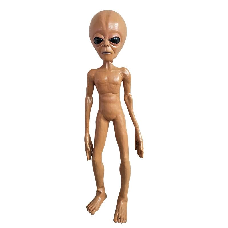 120CM Alien Foam Filled Prop Lifesize UFO Roswell Martian Lil Mayo Area 51 Halloween Prop Free Shipping