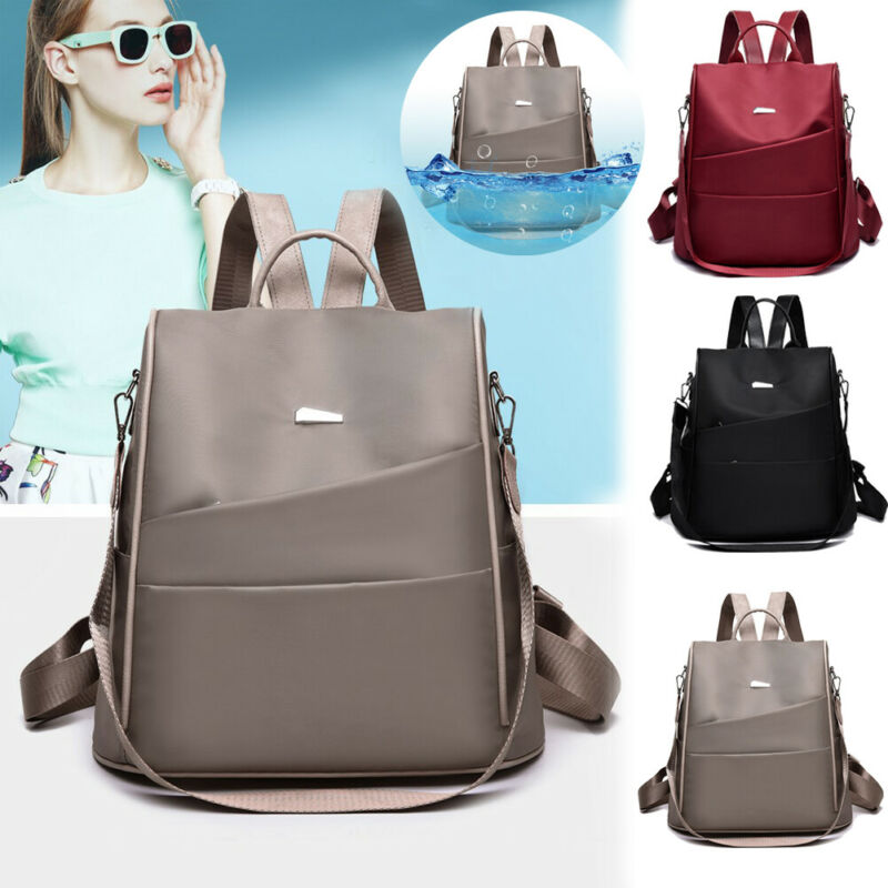 Women Lady Girls Waterproof Oxford Cloth Travel Backpack Anti-theft Shoulder Bag