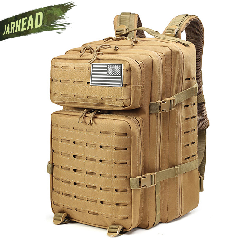 47L hombre/mujer senderismo Trekking bolsa militar mochila táctica ejército impermeable Molle Bug Out bolsa de viaje al aire libre Camping mochila