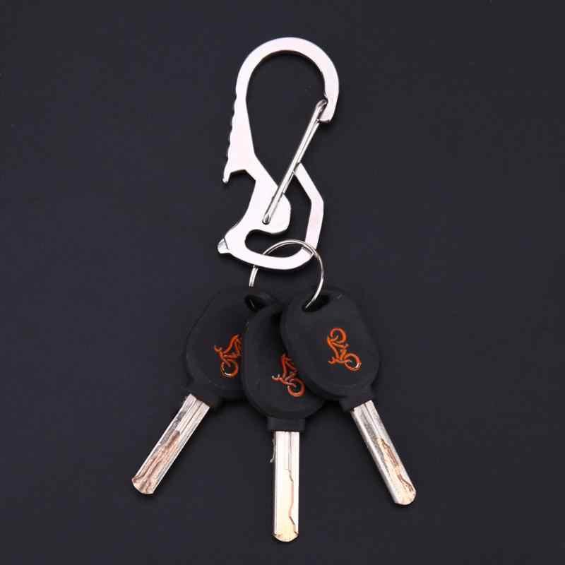 2Pcs Carabiner Cap Lifter Hex Driver Bottle Opener Belt Keychain Ring EDC Tools