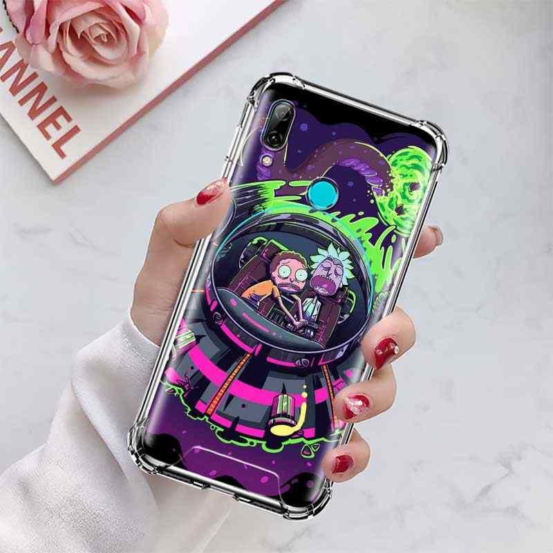 Copertura Per Huawei P20 P30 P40 Lite E P di Smart 2020 Compagno di 10 20 Pro A Prova di Caduta Airbag Cassa Del Telefono capa Rick Anime Morty