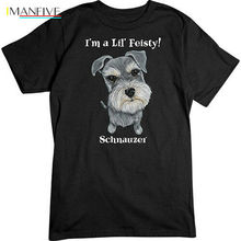 Love Me Schnauzer T-Shirt Dogs Animals Tee 2019 Newest Letter Print Cartoon Crazy T Shirts недорого