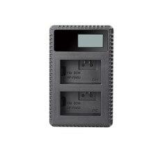 Быстрое двойное зарядное устройство для Sony Alpha a7, a7 II, a7R, a7R II, a7S, a7S II, a5000, a5100, a6000, a6300, a6500, цифровая камера
