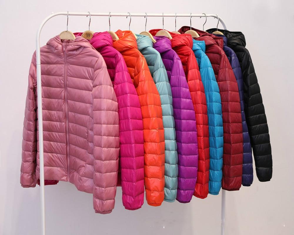 Brand Woman Spring Padded Warm   Coat   Ultra Light Duck   Down   Padded Jacket Short Female Overcoat Slim Solid   Coat   Portable Parkas