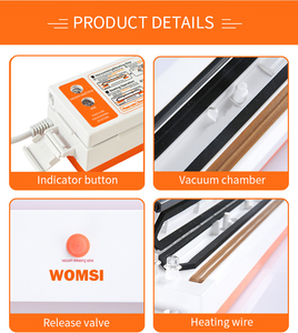 Image 5 - WOMSI Food Vacuum Sealer Packaging Machine With 15pcs Bags Free Vacuum Food Sealing Machine Vacuum Sealer Packer