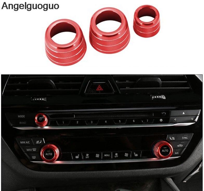 Ручки кондиционера для BMW X3, G01, X4, G02, 5 серий, G30, 6gt, GT6, 3 шт.