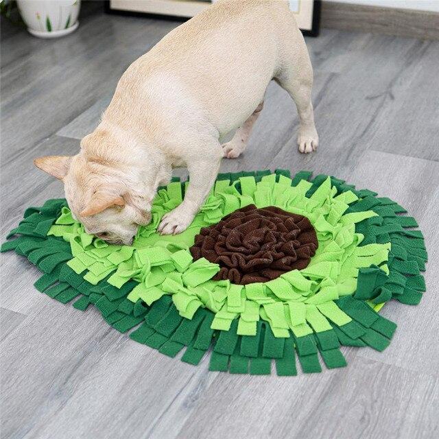 Dog Sniffing Mat Dog Puzzle Toy Pet Snack Feeding Mat Boring Interactive Game Training Blanket Snuffle Feeding Training Mat 2