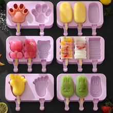 Creative Popsicle Mold Ice Box Cream Mould Summer DIY With Lid And 50pcs Stick