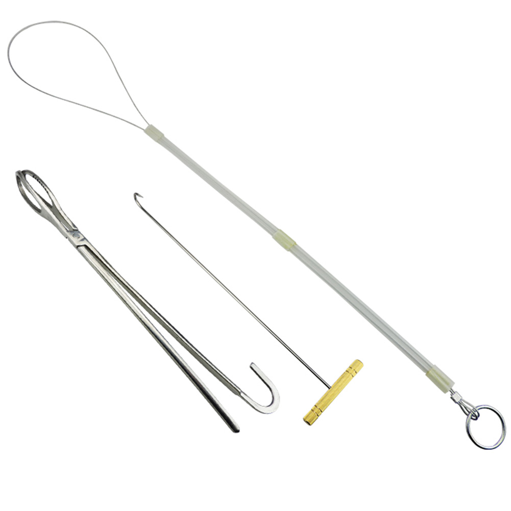 Livestock Pig Goat Cow Veterinary Midwifery Tool Midwifery Rope Pliers Hook Stainless steel For pigs Midwifery tool set