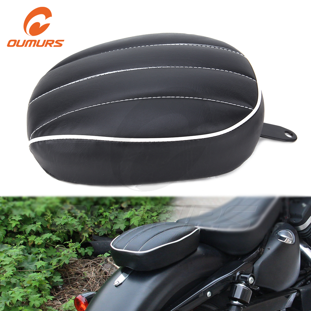 OUMURS Motorcycle Pillion Pad <font><b>Seat</b></font> <font><b>Rear</b></font> Passenger For Harley Sportster XL1200 XL883 Forty Eight Seventy Two <font><b>Iron</b></font> <font><b>883</b></font> 2010-2016 image