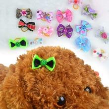 10 sztuk słodkie zwierzątko nakrycia głowy z łuki trwałe sierść psa dekoracji z pałąkiem na głowę dla Puppy Cat Ute głowa kota nosić głowa kota wystrój tanie tanio Akcesoria do włosów Tkaniny