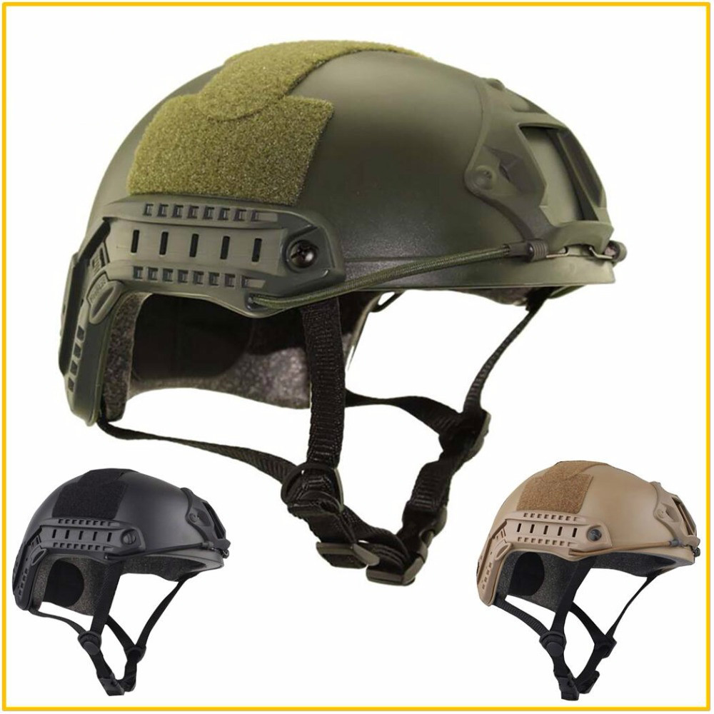 High Quality Army Airsoft MH Tactical FAST Helmet Protective Paintball Wargame Helmet  With Protective Goggle Lightweight