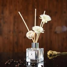 Reed-Diffuser-Set Sanded-Glass-Bottles Essential-Oil Air-Freshener Home-Decor 50ml Deodorant