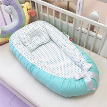Newborn Baby Portable Baby Nest Infant Cotton Cradle Crib Bed for Baby Travel Outdoor Comfortable Washable Bed YHM053