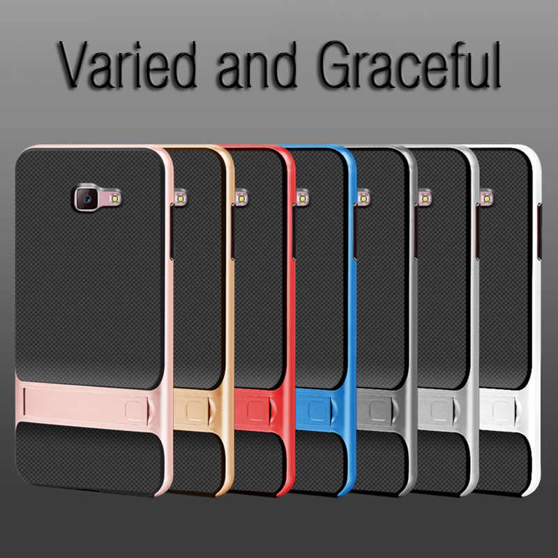 3D Kickstand Ponsel Penutup Belakang untuk Samsung J7 Prime Case Cover Tpu + PC Hybrid Silikon Carcasas SamsungJ7Prime J7Prime NXT prime2