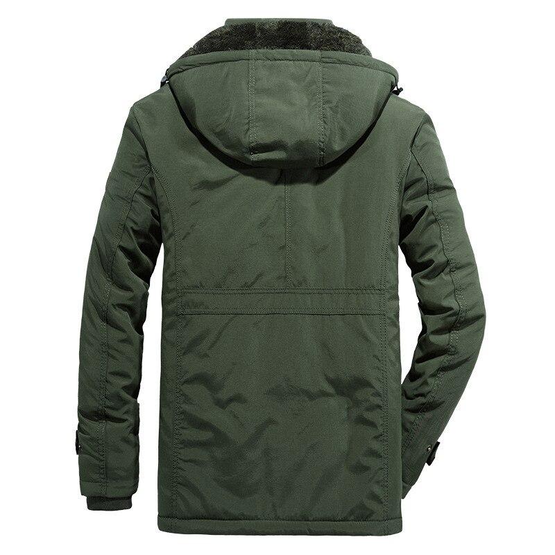 Hommes vêtements 2019 veste homme hiver manteau hommes veste Plus velours épaississement chaud vestes parka hombre à capuche manteaux décontractés - 2