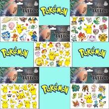 5pc temporária pokemon tatuagem adesivo pikachu miúdo adesivos brinquedos go pokemon crianças à prova dwaterproof água adesivos criança recompensa presente adesivo
