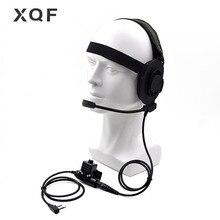 전술 보먼 엘리트 II 헤드셋 이어폰 U94 PTT Kenwood TK2107 Baofeng UV 5R BF 888S UV 6R 휴대용 라디오 워키 토키