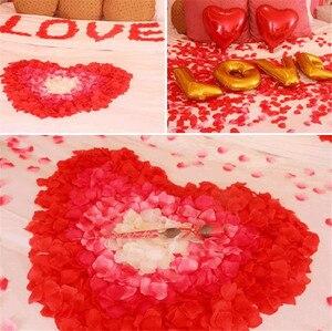 1000/3000 шт искусственный цветок Роза лепесток поддельные лепестки брак украшения ко Дню Святого Валентина поставки Свадебная вечеринка аксессуары 5*5 см 50%