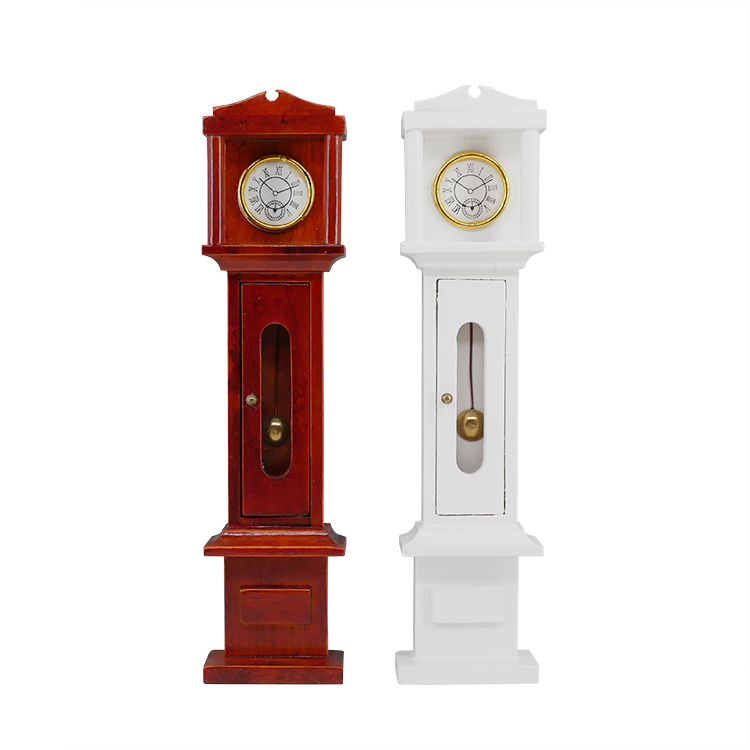 Dollhouse Clock Miniature Furniture Grandfather Clock Dolls Mini Handmade Furniture 1:12 Scale