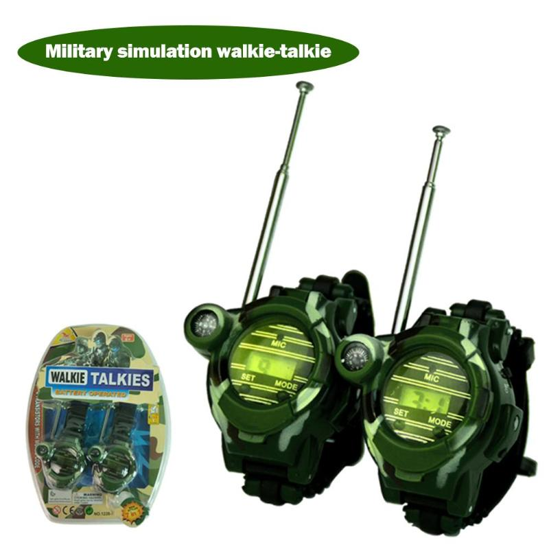 Portable Ourdoor Walkie Talkie Watch Camouflage Style Children Toy Kids Electric Strong Clear Range  Kids Interactive Radio Out