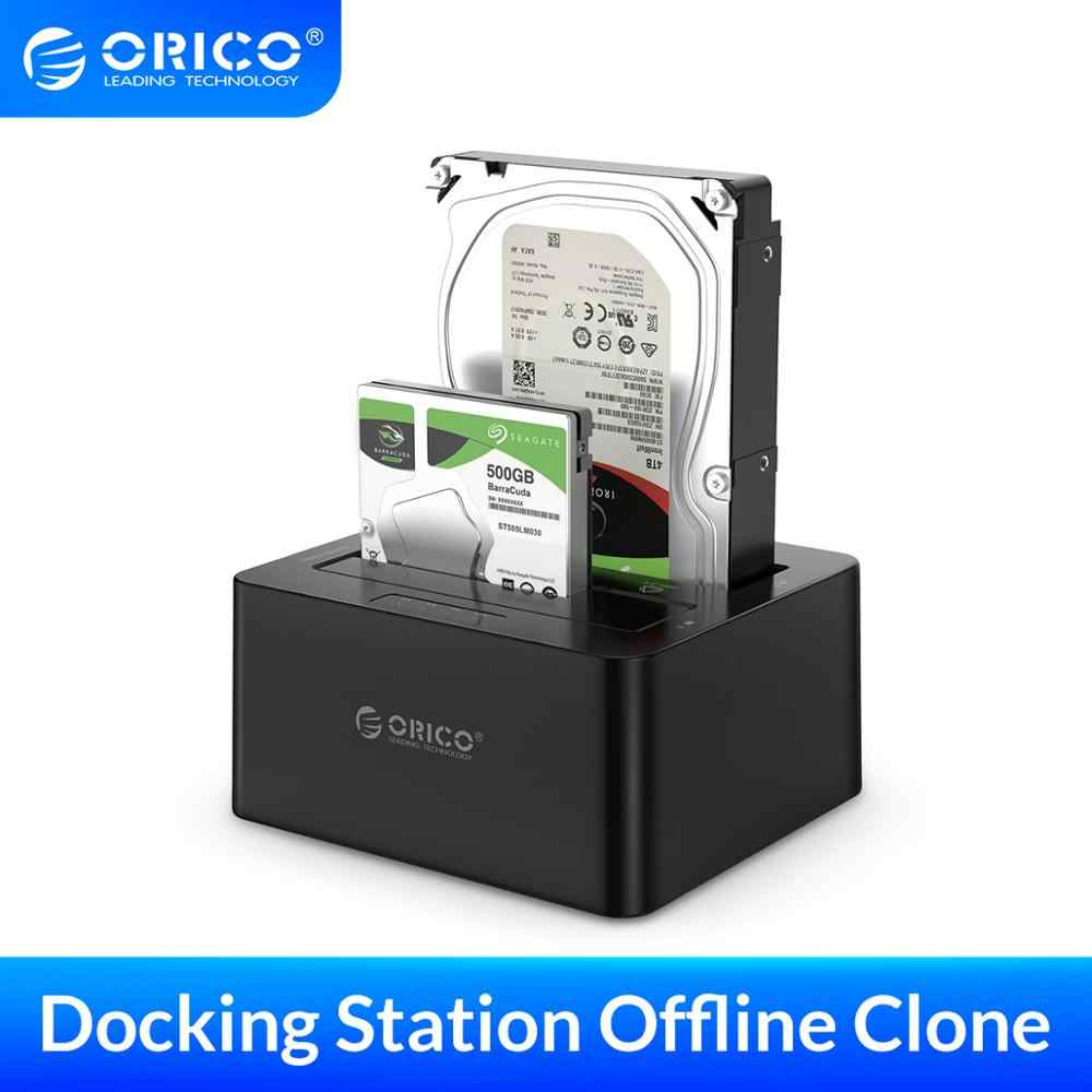 USB3.0 5Gbps SATA External Hard Drive Dock Station for 2.5//3.5 HDD//SSD