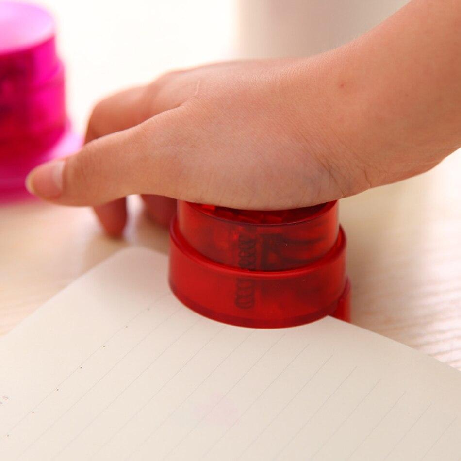 Transparent Staple-Free Stapler Home Paper Binding Binder Paperclip Stationery Multi Angle Stapler Stapleless Stapler Mini