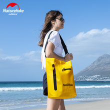 Naturehike New 30L PVC Outdoor Swimming Storage Bag Fashionable Shoulder Upstream Beach Wet And Dry Separation Waterproof Bag