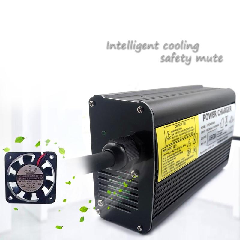 100-240Vac 67.2V 5A Lader 60V 5A Li-Ion Lader 47-63Hz Voor 16S 60V Lithium batterij Snellader 4